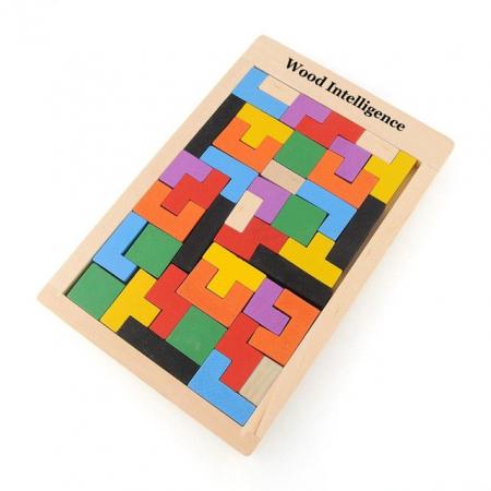 Joc logic Tetris din lemn.3