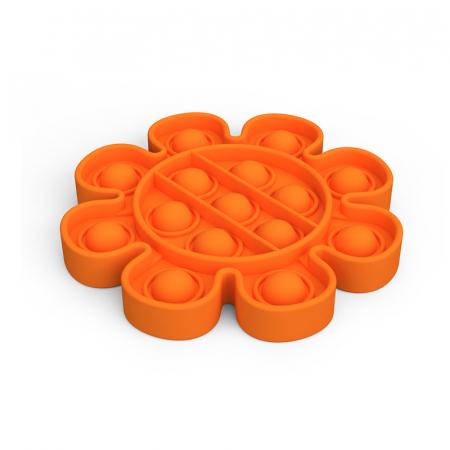 Jucarie Pop It Now & Flip It, Push Bubble Floare Portocaliu [0]