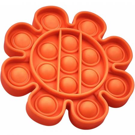 Jucarie Pop It Now & Flip It, Push Bubble Floare Rosu [0]