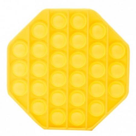 Jucarie Pop It Now & Flip It, Push Bubble Octogon Galben [2]