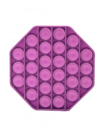 Jucarie Pop It Now & Flip It, Push Bubble Octogon Mov [0]