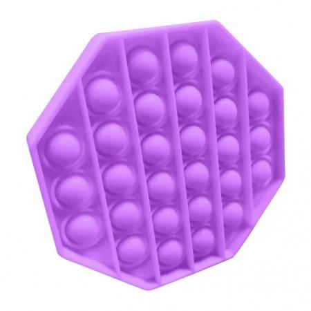 Jucarie Pop It Now & Flip It, Push Bubble Octogon Mov [2]