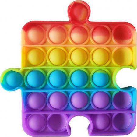 Jucarie Pop it Now piesa puzzle multicolor