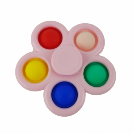 Jucarie spinner cu 5 buline, multicolor/roz [0]