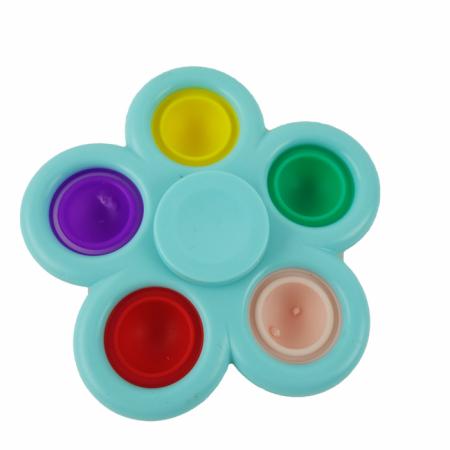 Jucarie spinner cu 5 buline, multicolor/albastru [1]