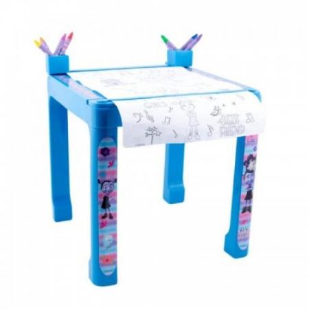 Pachet Vampirina- Masa cu accesorii de colorat + set de colorat portabil1