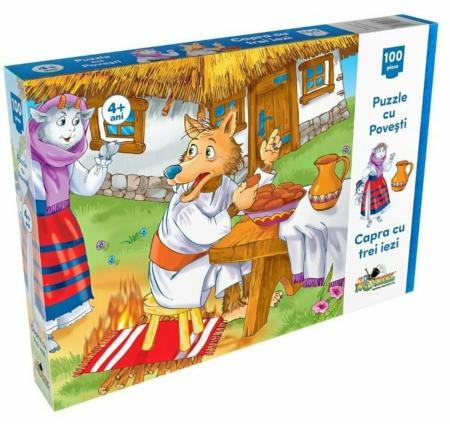 Noriel Puzzle 100 piese - Capra cu Trei Iezi