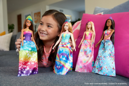 Papusa Barbie Dreamtopia - Printesa cu coronita galbena [5]