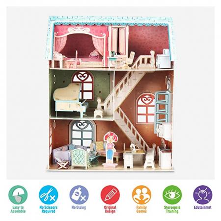 Puzzle 3D Casa Pianistului 105 Piese [4]