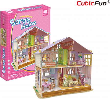 Puzzle 3D CubicFun-Casuta Papusilor  Sara's Home [0]