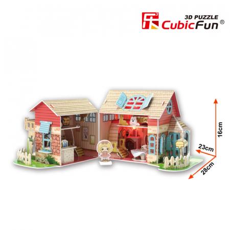 Puzzle 3D CubicFun-Sweet Villa 84 Piese [2]