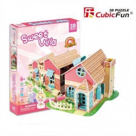 Puzzle 3D CubicFun-Sweet Villa 84 Piese [0]