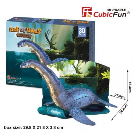 Puzzle 3D CubicFun- Plesiosaur 36 Piese [0]
