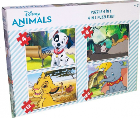 Puzzle 4 In 1 Animale Disney1
