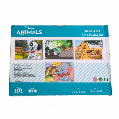 Puzzle 4 In 1 Animale Disney2