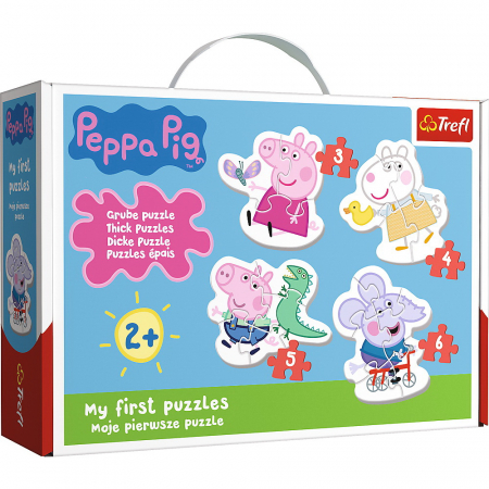 Puzzle Baby Clasic Simpatica Peppa Pig 18 Piese [1]