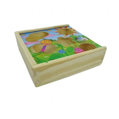 Puzzle lemn Cutia inteligenta cu 12 piese. [4]
