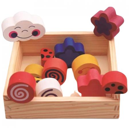 Puzzle lemn Cutia inteligenta cu 12 piese. [1]