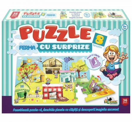 Puzzle Noriel - Ferma Cu Surprize, 36 Piese0