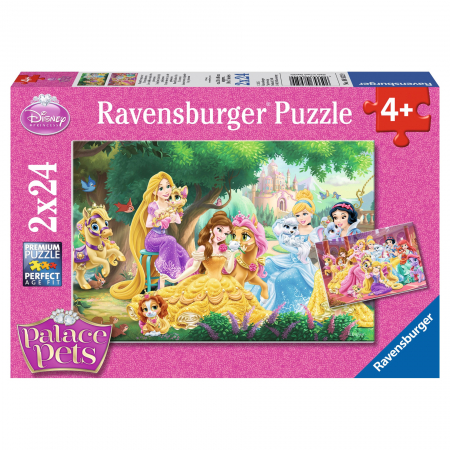 Puzzle Palace Pets 2x24 Piese0