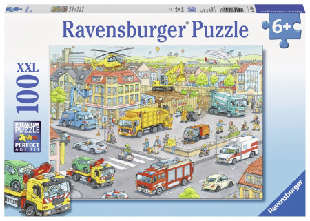 Puzzle Ravensburger - Utilaje in oras, 100 piese0