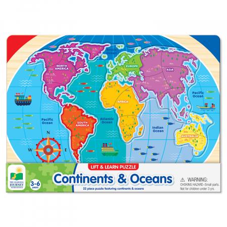 Puzzle - Sa Invatam Continentele Si Oceanele [1]