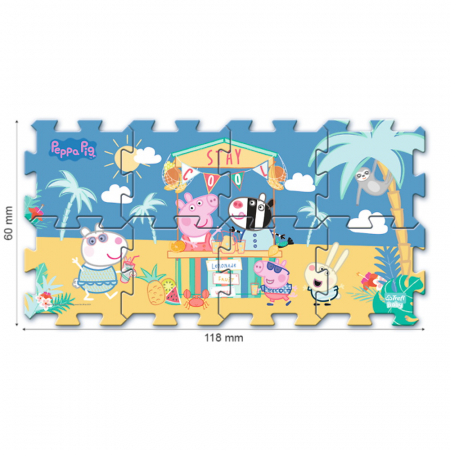 Puzzle spuma Trefl Baby - Peppa Pig Summer, 8 piese [2]