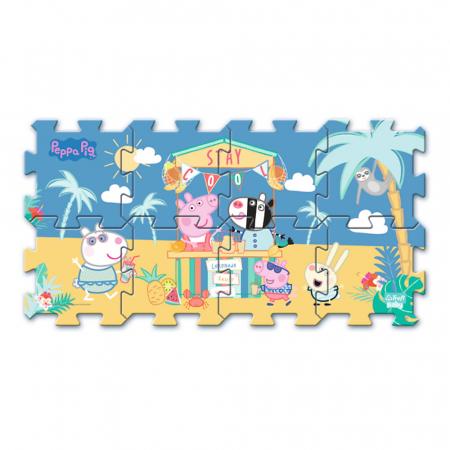 Puzzle spuma Trefl Baby - Peppa Pig Summer, 8 piese [1]