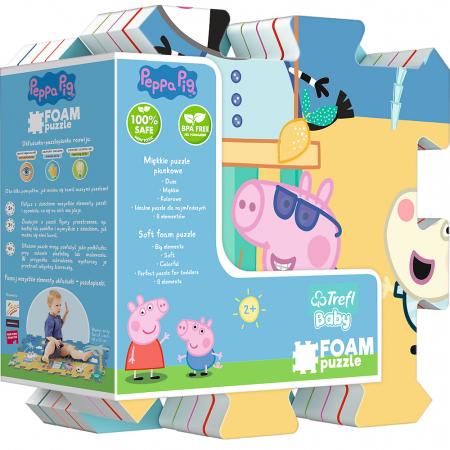 Puzzle spuma Trefl Baby - Peppa Pig Summer, 8 piese [0]
