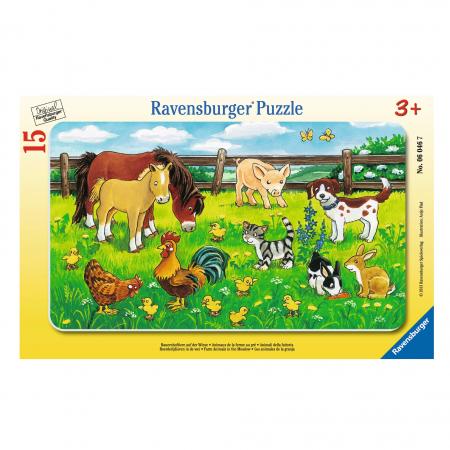 Puzzle Tip Rama Animale Pe Pajiste