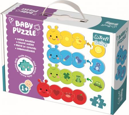 Puzzle Trefl Baby Clasic Sorteaza Culorile 16 Piese