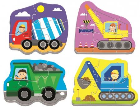 Puzzle Trefl Baby Clasic, Utilaje la treaba, 3/4/5/6 piese [1]