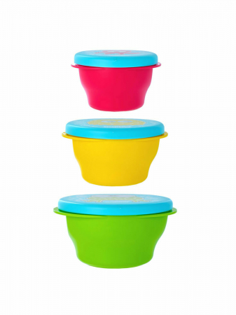 Set 3 Boluri Cu Capac U-Grow, Multicolor1