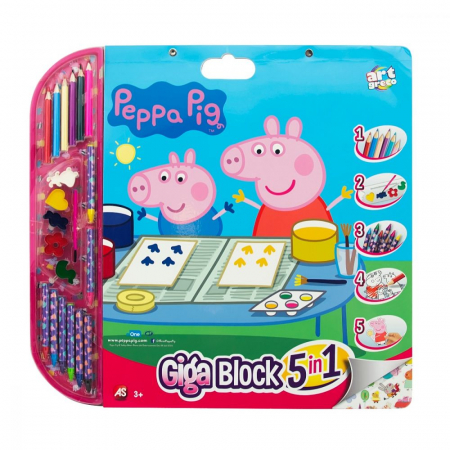 Set Pentru Desen 5in1 Gigablock Peppa Pig [0]