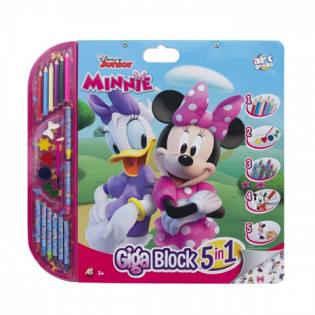 Set Pictura 5 In 1 Gigablok Minnie Mouse0