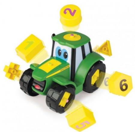 Tractoraș Cu Forme Și Cifre - John Deere1