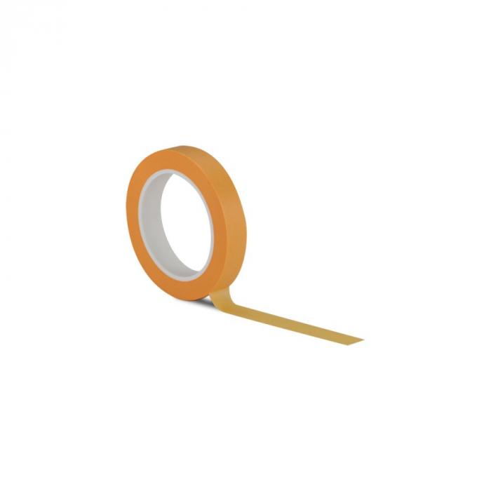 Banda mascare fina portocalie Washi, 18 mm x 50 m 0
