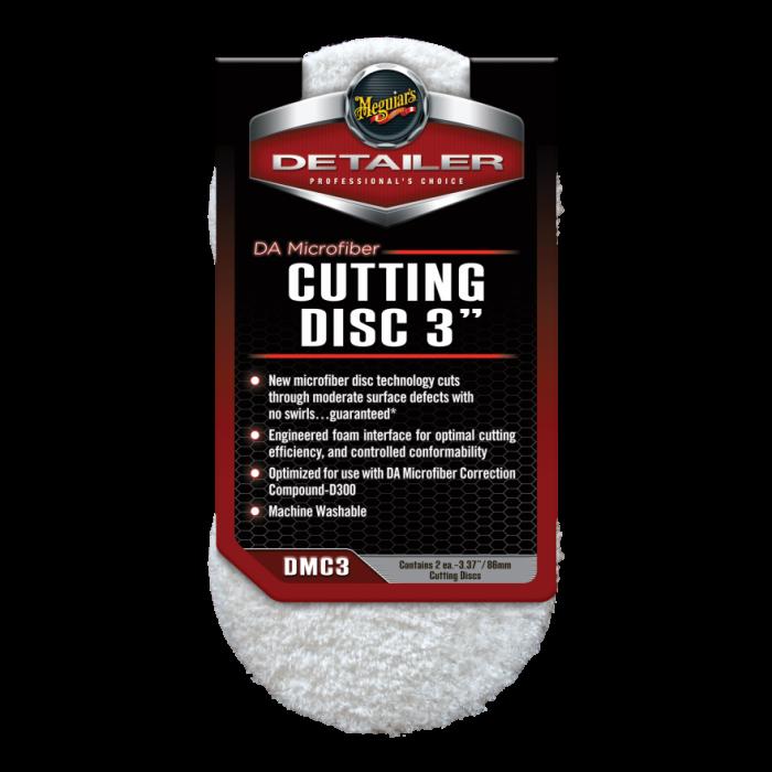 """DA Microfiber Cutting Disc 3"""", disc polish abraziv cu microfibra 7,62 cm, pachet 2 buc 0"""
