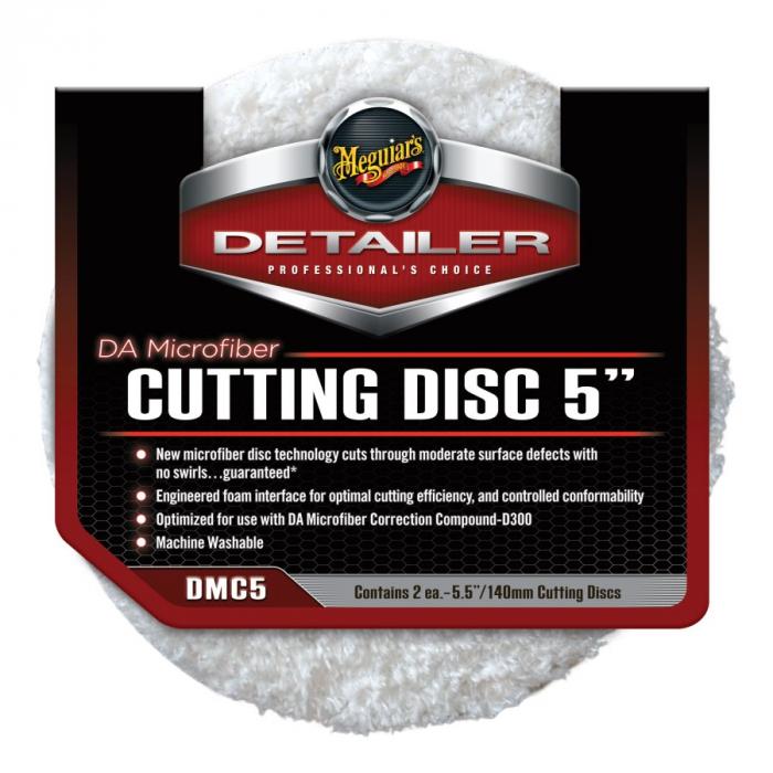 """DA Microfiber Cutting Disc 5"""", disc polish abraziv cu microfibra 12,7 cm, pachet 2 buc [0]"""