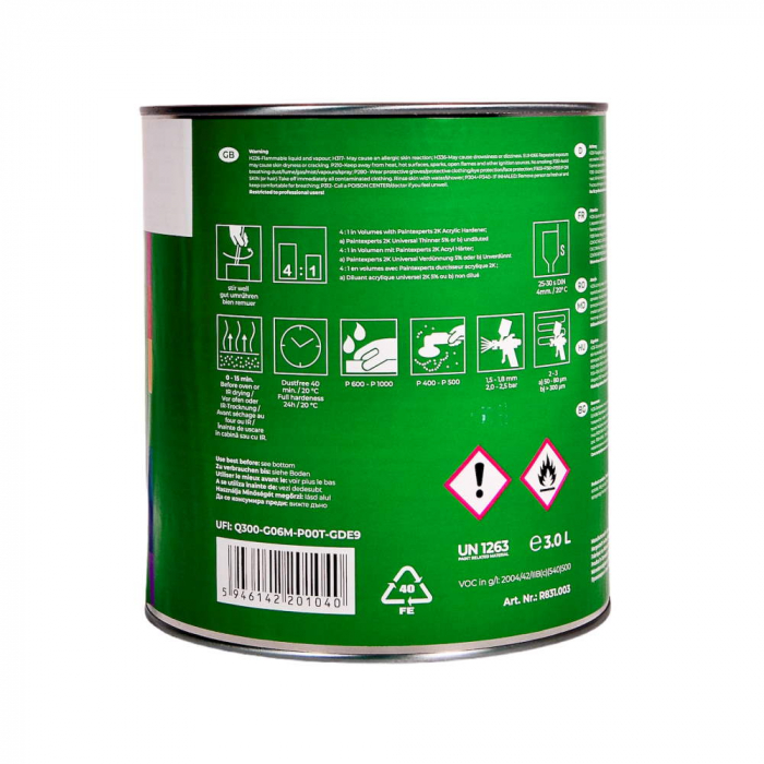 R831.003_Paint_Experts_Filler_2K_acrilic_HS_41_negru_3ltr 1