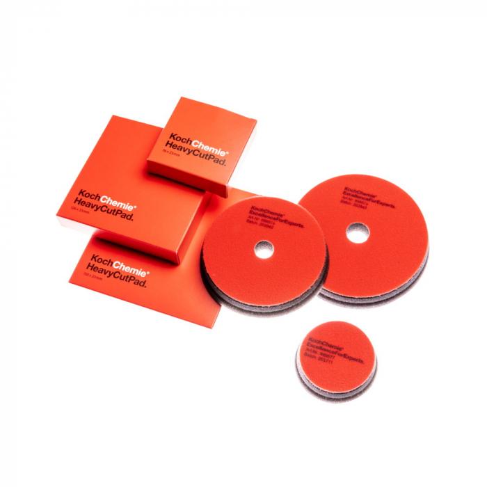 999611_Koch_Chemie_Heavy_Cut_Pad_burete_polish_abraziv_rosu_45x23mm_cutie_5buc 2