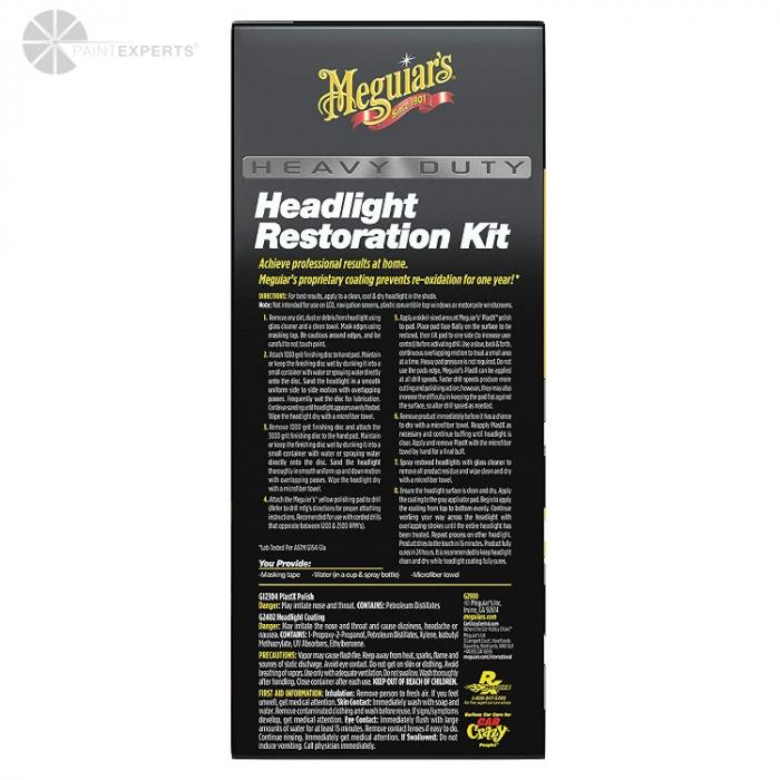Heavy Duty Headlight Restoration Kit, set polish faruri 1