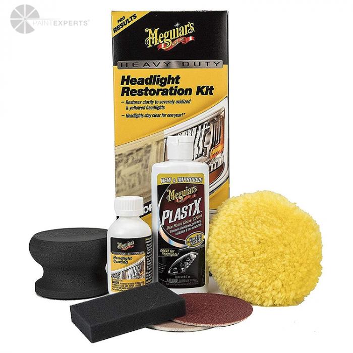 Heavy Duty Headlight Restoration Kit, set polish faruri 0