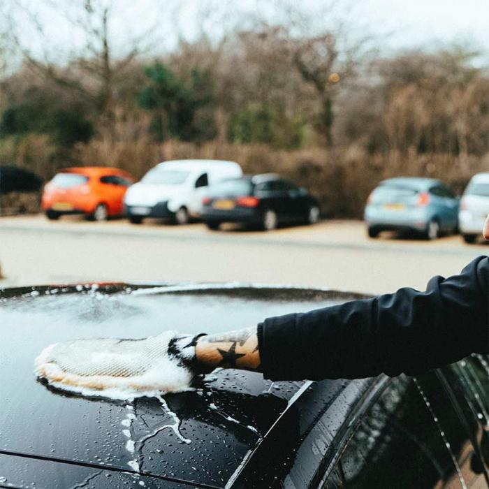 Lambswool Wash Mitt, manusa spalat auto, blana de miel [3]