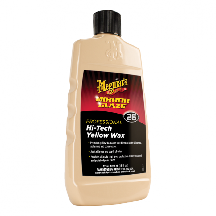 Mirror Glaze Professional Hi Tech Yellow Wax, ceara auto lichida, 473 ml 0