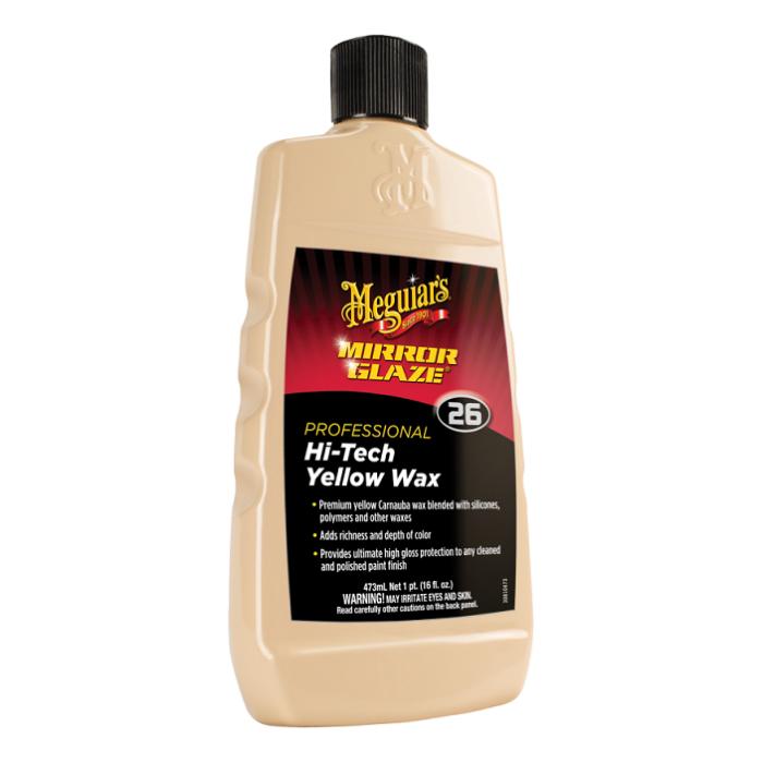 Mirror Glaze Professional Hi Tech Yellow Wax, ceara auto lichida, 473 ml [0]