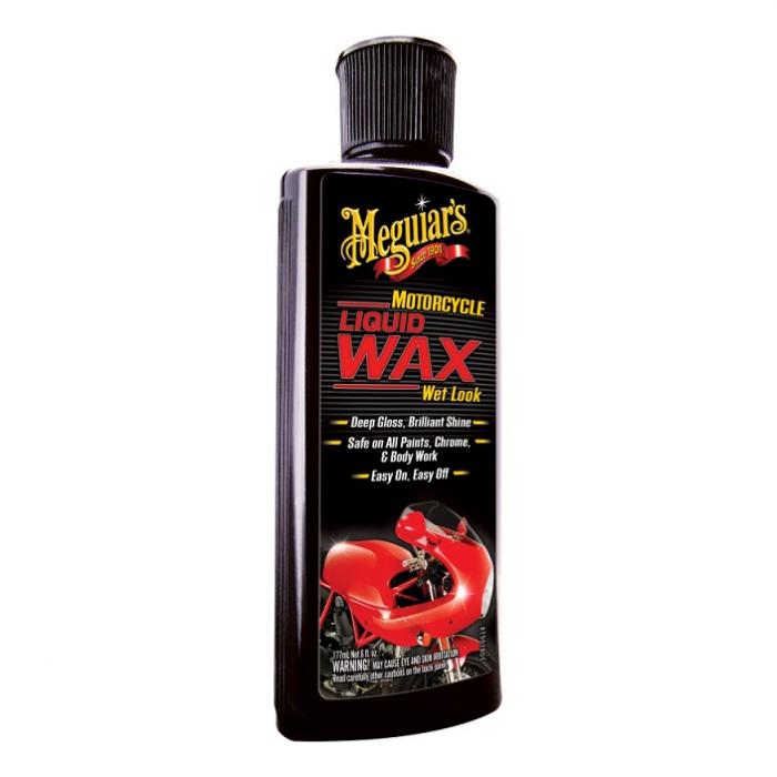Motorcycle Liquid Wax Wet Look, ceară lichidă curățare, polishare și protecție într-un singur pas, pentru motociclete, flacon 177 ml [0]