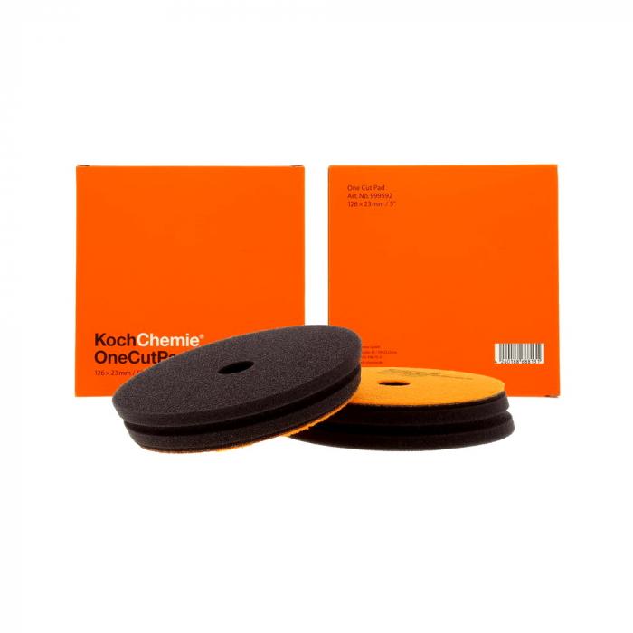 999592_Koch_Chemie_One_Cut_Pad_burete_polish_one_step_portocaliu_126x23mm 0
