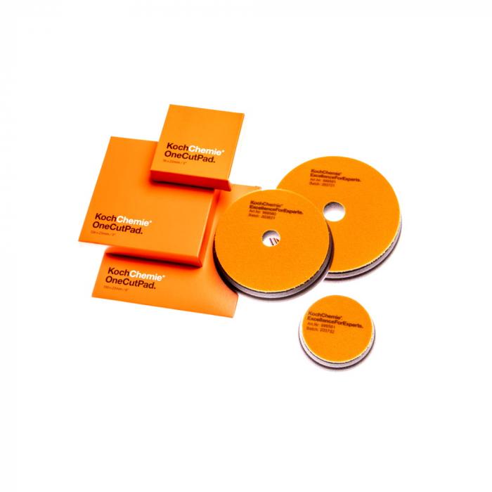 999592_Koch_Chemie_One_Cut_Pad_burete_polish_one_step_portocaliu_126x23mm 2