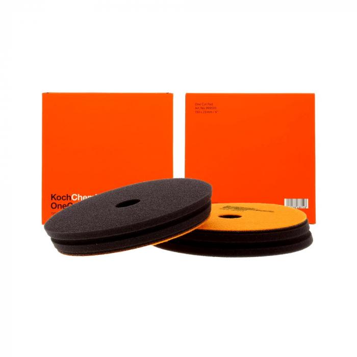 999593_Koch_Chemie_One_Cut_Pad_burete_polish_one_step_portocaliu_150x23mm 0